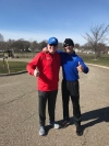 Jasen Sokol and Akron Marathon Race Director Brian Polen after a run on the Towpath Trail