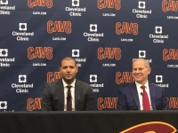 Koby Altman and John Beilein at today's presser.