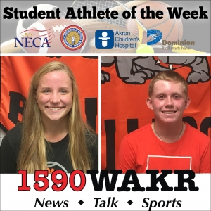 Student Athletes of the Week Emily Christopher and Maxwell Moldovan