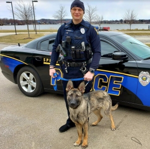 K-9 Brodie and Officer Shawn Brady