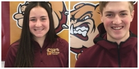 Emily Andrassy and Jackson Carlson Student Athletes of the Week
