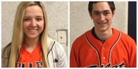 Sydnie Wolf and Josh Jaeger of Ellet Orangemen