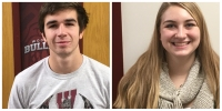 Josh Fleming and Bella Chirakos Student Athletes of the Week Woodridge HS