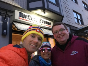 (L-R) Brian Polen, Tammy Polen, and Jasen Sokol after a workout at Vertical Runner of Wooster