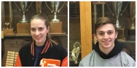 Student Athletes of the Week Samuel Lord and Sarah Mason